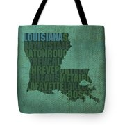 Louisiana Word Art State Map On Canvas Tote Bag by Design Turnpike