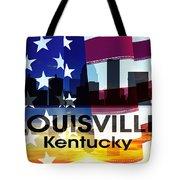 Louisville Ky Patriotic Large Cityscape Tote Bag