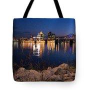 Louisville Rocks At Night Tote Bag