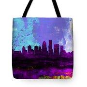 Louisville Watercolor Skyline Tote Bag