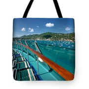 Lounge Chairs On Cruise Ship Tote Bag