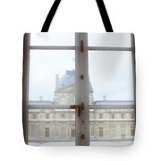 Louvre Museum Viewed Through A Window Tote Bag