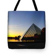Louvre's Last Light Tote Bag