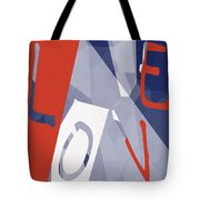 Love Abstract Tote Bag