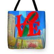 Love And Cherry Blossoms Tote Bag