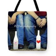 Love And Denim Tote Bag