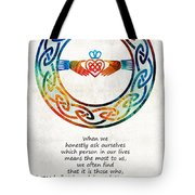 Love And Friendship Art By Sharon Cummings Tote Bag