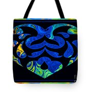 Love And Light Sharing Space Abstract Shapes And Symbols Artwork Tote Bag
