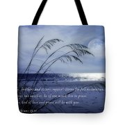 Love And Peace Be With You Tote Bag