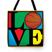 Love Basketball Tote Bag