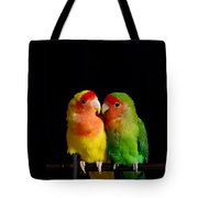 Love Birds At First Sight Tote Bag