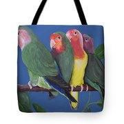 Love Birds Tote Bag by Kathy Weidner