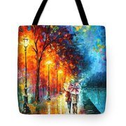 Love By The Lake - Palette Knife Oil Painting On Canvas By Leonid Afremov Tote Bag