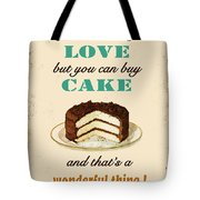 Love Cake Typography Tote Bag