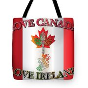Love Canada Love Ireland16in Tote Bag