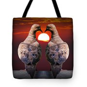 Love Dove Birds At Sunset Tote Bag