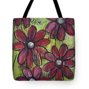 Love For Five Daisies Tote Bag