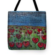 Love For Flanders Fields Poppies Tote Bag