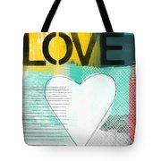 Love Graffiti Style- Print Or Greeting Card Tote Bag by Linda Woods