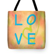 Love In Bright Blue Tote Bag