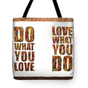 Love In Life Acrylic Palette Knife Painting Tote Bag