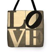 Love In Sepia Tote Bag