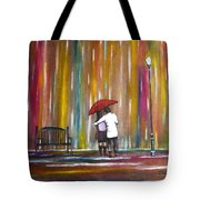 Love In The Rain Tote Bag