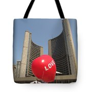 love in Toronto City Hall Tote Bag