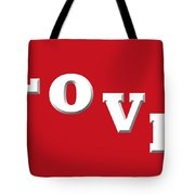 Love In White On Red Tote Bag