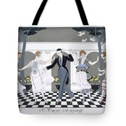 Love Is Blind Tote Bag by Georges Barbier