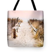Love Is Everything - Footprints In The Sand Tote Bag
