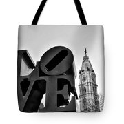 Love Is Just Black And White Tote Bag
