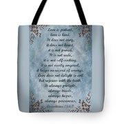 Love Is Patient Clouds Gold Leaf Tote Bag by David Dehner