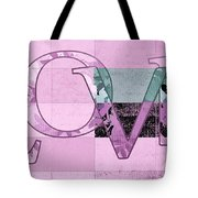 Love - J249115131t-grape Tote Bag