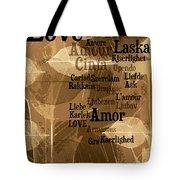 Love Leaves Tote Bag