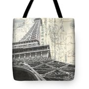 Love Letter From Paris Square Tote Bag