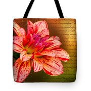 Love Letter To Dahlia Tote Bag
