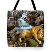 Love Lion Waterfall Tote Bag