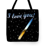 Love Message Digital Painting Tote Bag