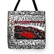 Love Music Memories Original Acrylic Painting  Tote Bag