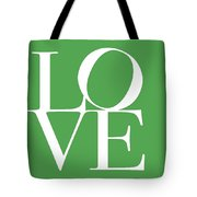 Love On Green Tote Bag