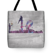 Love Over Paris Tote Bag