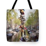 Love Padlocks In Amsterdam Tote Bag