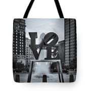 Love Park Bw Tote Bag by Susan Candelario