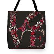 Love Quatro Heart - S111b Tote Bag