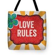 Love Rules Tote Bag by Linda Woods