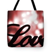 Love Sign With Red Sparkle Tote Bag