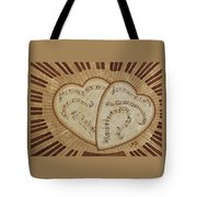 Love Song Of Our Hearts Tote Bag