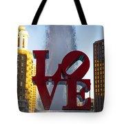 Love Statue In Philadelphia Pa Tote Bag