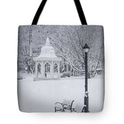 Love Through The Winter Tote Bag